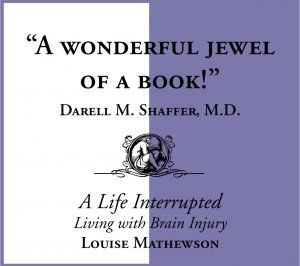 A Life Interrupted Living with Brain Injury by Louise Mathewson quote 1