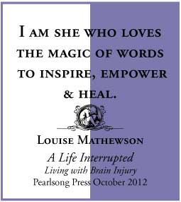 A Life Interrupted Living with Brain Injury by Louise Mathewson quote 5