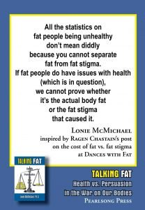 Talking Fat Health vs Persuasion in the War on Our Bodies statistics quote
