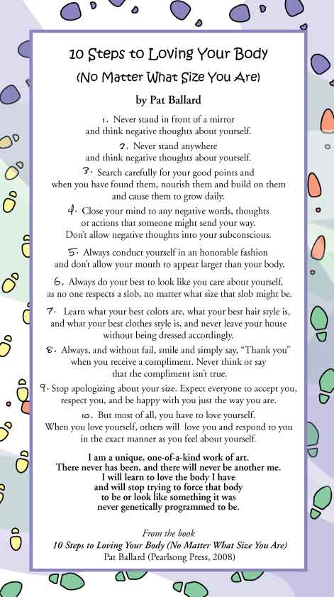 10 Steps to Loving Your Body (No Matter What Size You Are) by Pat Ballard